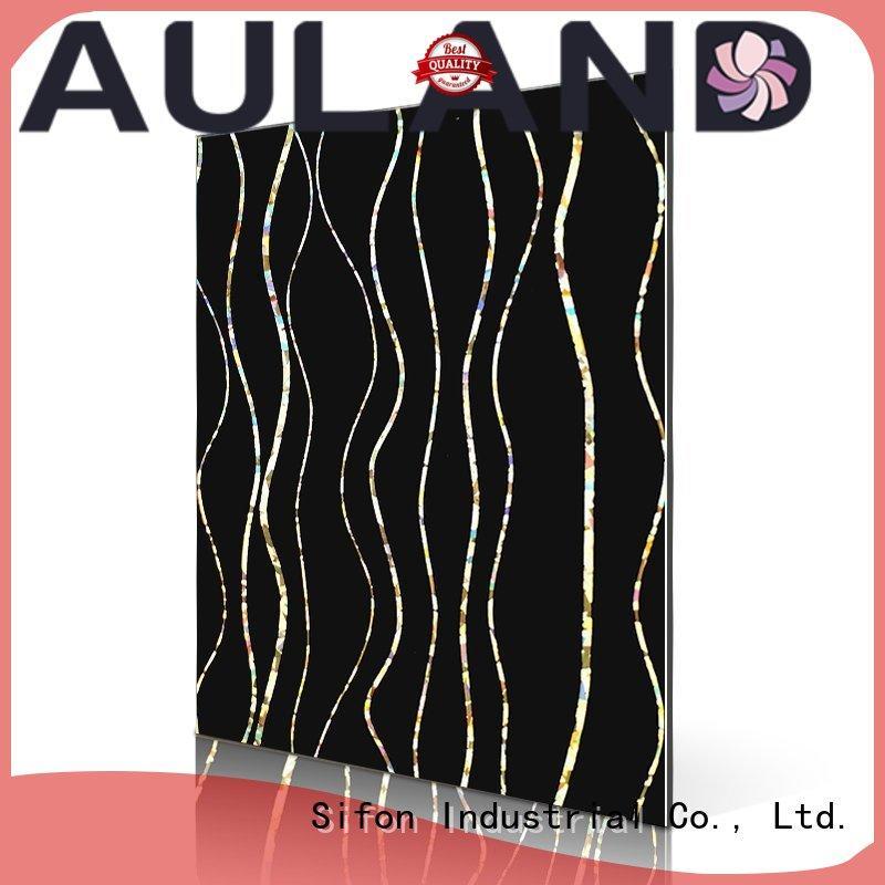 laser rainbow aluminum composite panel price philippines cross bricks AULAND Brand