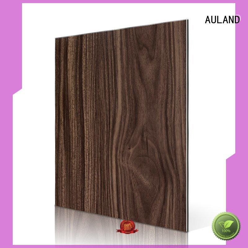 Wholesale walnut emperador acp wall panels AULAND Brand