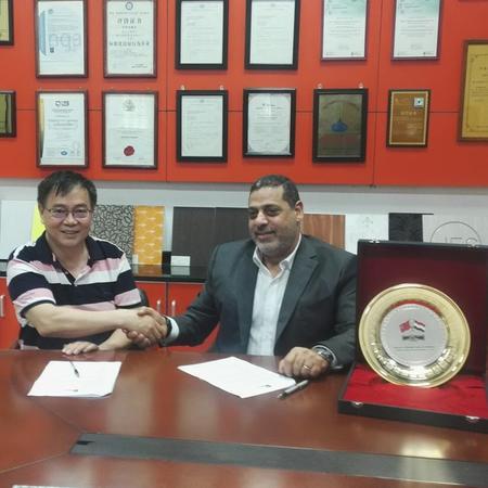Sifon firmó un acuerdo de agencia exclusiva de área con ELSHOBAKY COMPANY PARA IMPORTAR