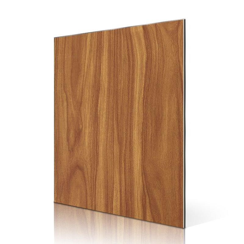 SF512-W Dark Teak aluminium composite panel manufacturers