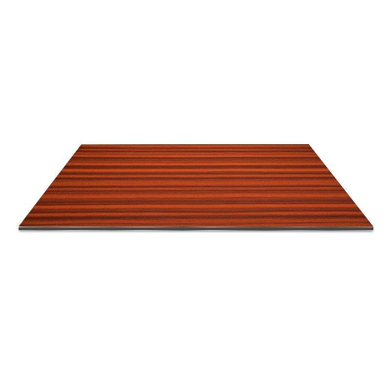 RC208-W Red Zebra wood aluminium composite panel design