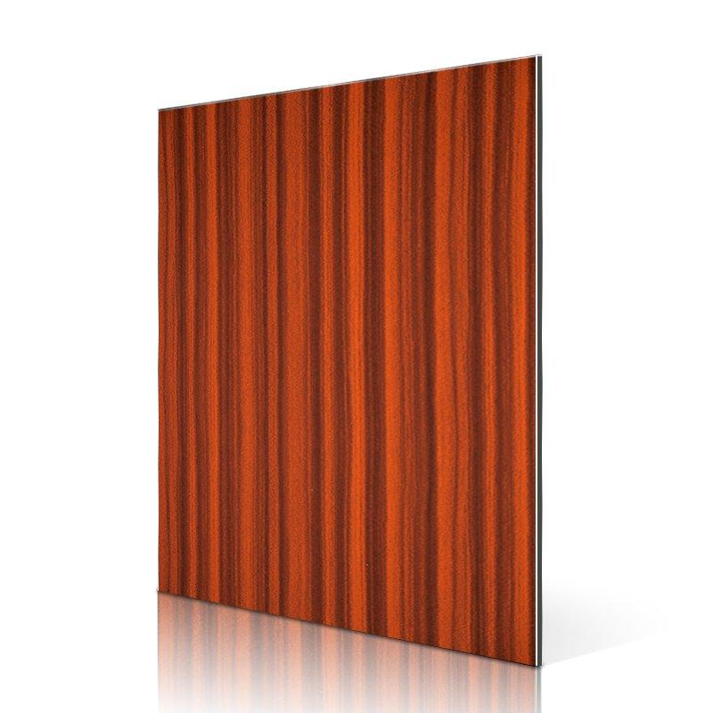 RC208-W Red Zebra wood aluminium composite panel design