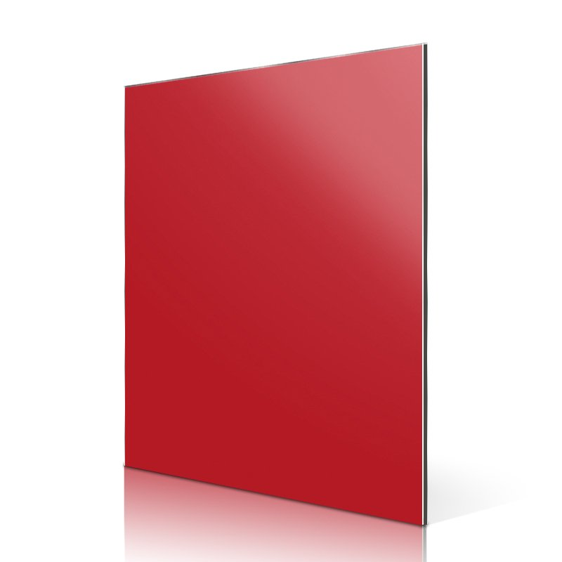 Sifon AL84-R High Light Red aluminum composite sheet suppliers High Glossy ACP image6