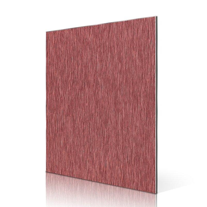 AL52-B Red Brushed aluminium composite panel acp