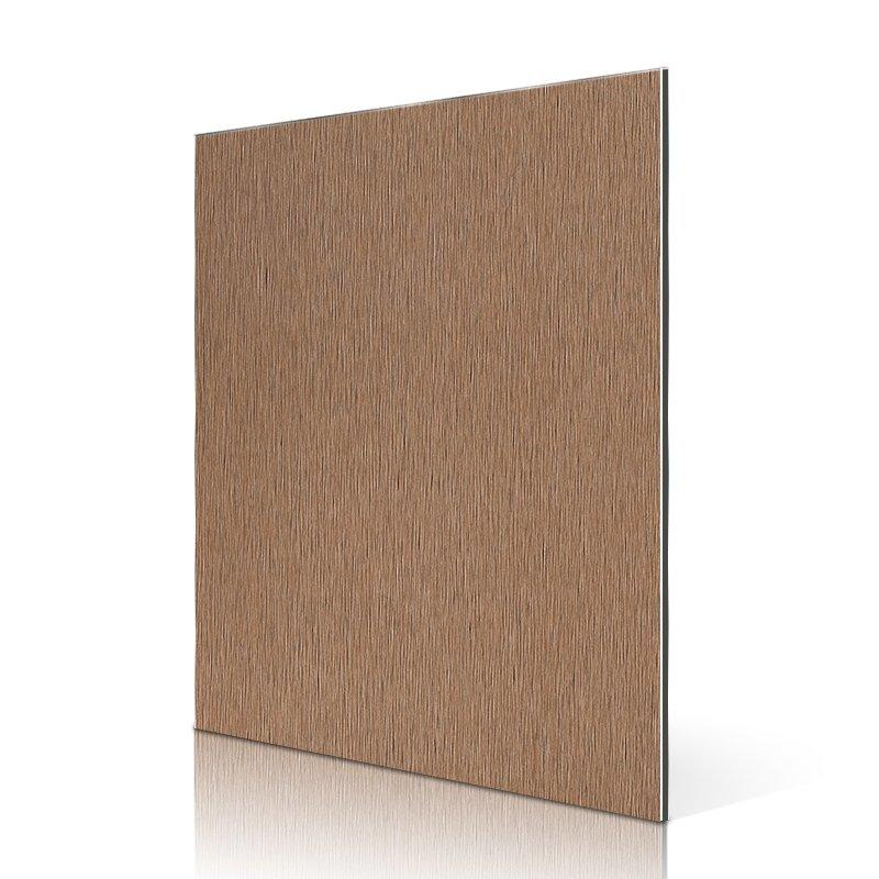 AL53-B Brown Brushed acp facade panel