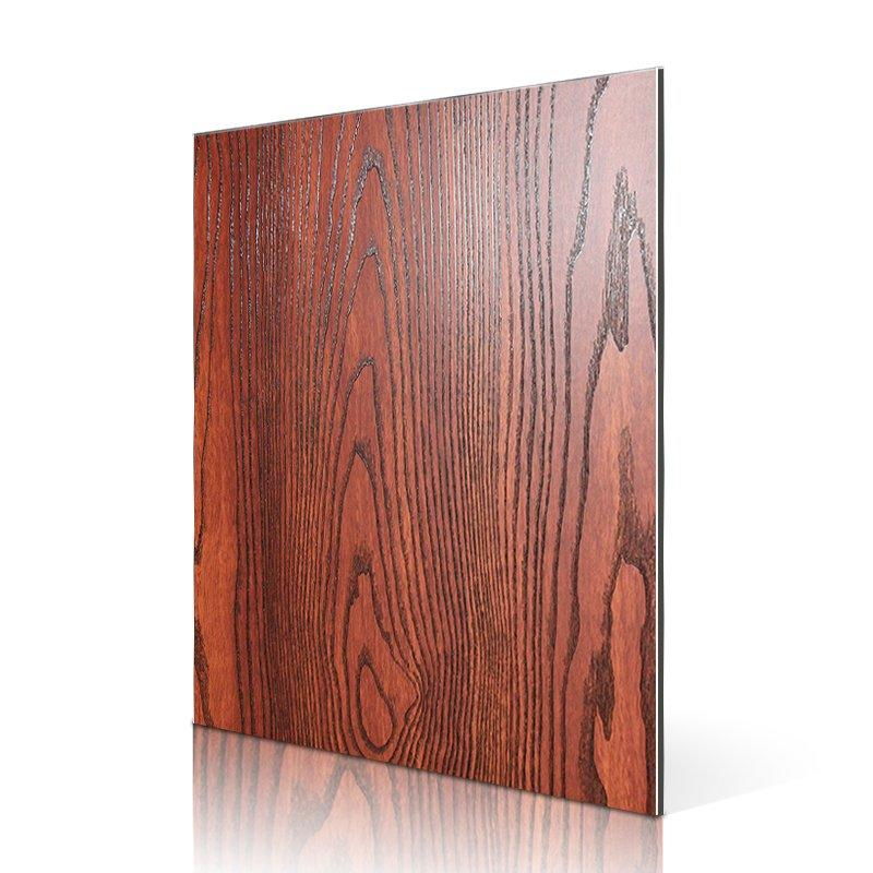 SAA30603-PVC Black Wood Skin acp wall panels