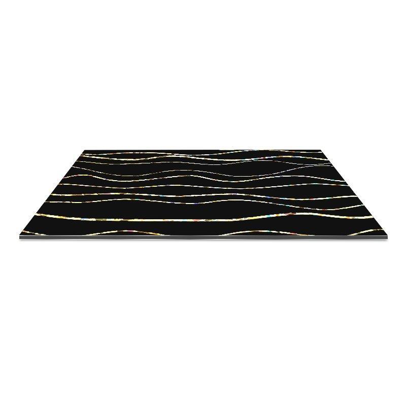 SF1302-AL Laser Black Big Cross Lines acp panel sheet