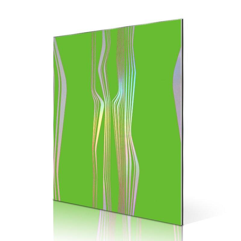 SF2607-ALR Rainbow Laser Waves acp panel manufacturer