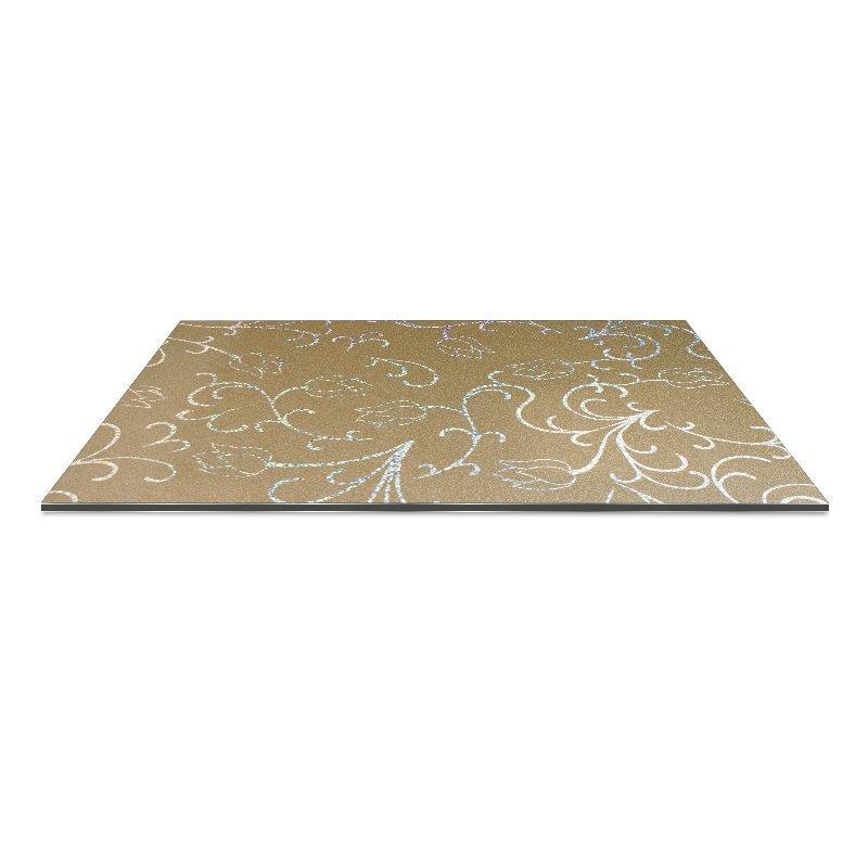 SF2829-ALBPM Laser Metallic Small Lotus acp panel design