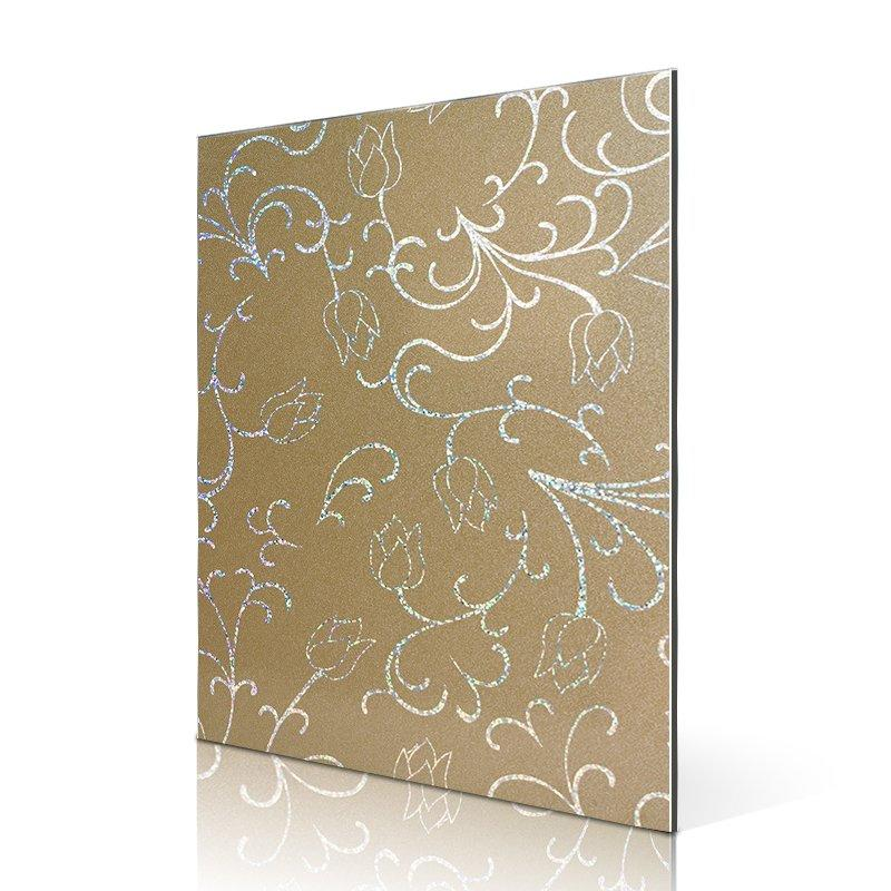 SF2829-ALBPM Laser Metallic Small Lotus acp panel design
