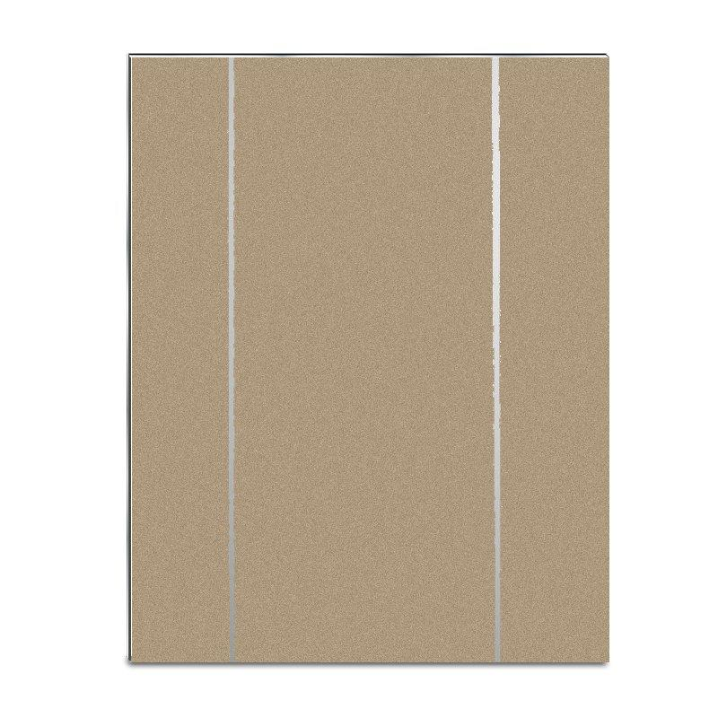 SF7429-ABP Pearly Sparkle Light Champagne Gold Wide Silver Lines acp sheet
