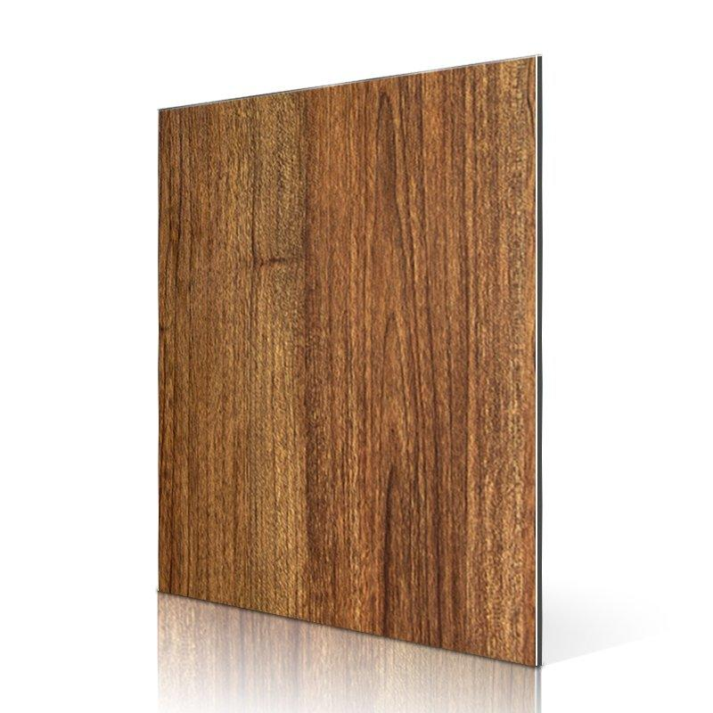 SAA34101-PVC Veneer Red Teak Burl acp panel interior design
