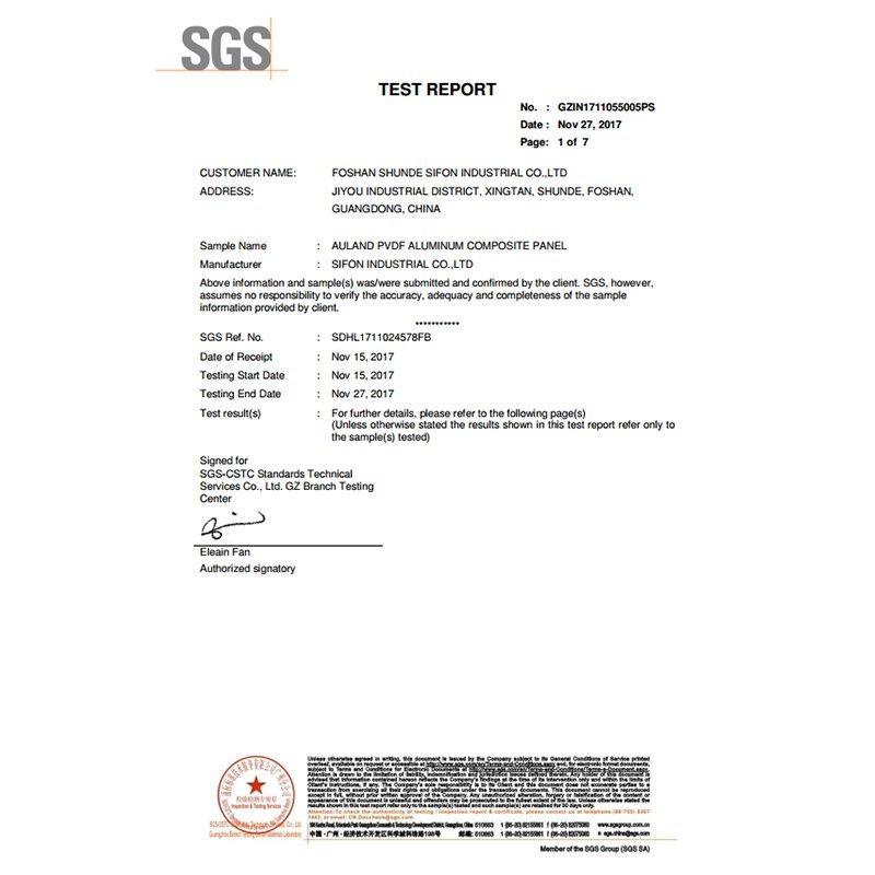SGS-Fireproof ASTM E84 Test Report
