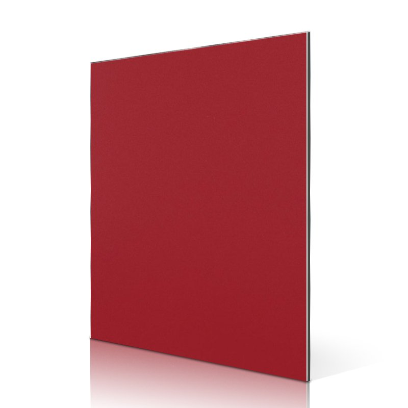 Sifon AL15-R Red aluminium composite panel exterior designs Solid Color ACP image1