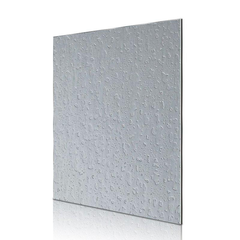 ED03-AL06 Silver Brushed Granular acp sheet