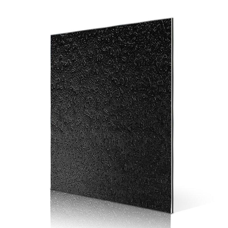 Sifon ED03-SF703D Pearly BlackBrushedGranular aluminium composite board suppliers Embossed ACP image1