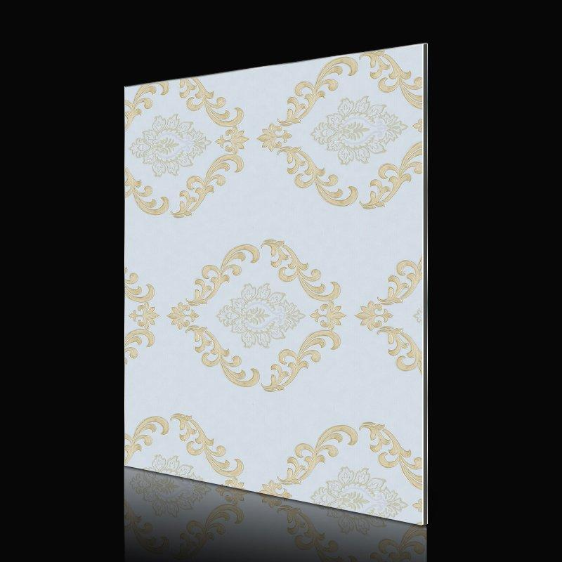 SAA249G196-AB Golden Wall Paper Flower acp wall cladding