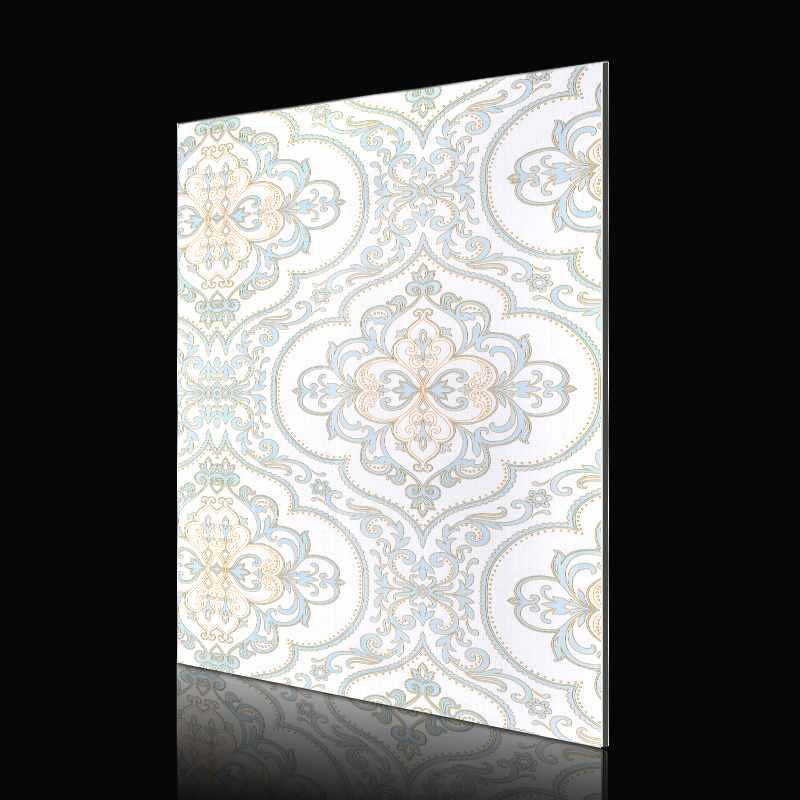 SAA250f01-ABS Matte Blue European Style Flower acp wall cladding designs