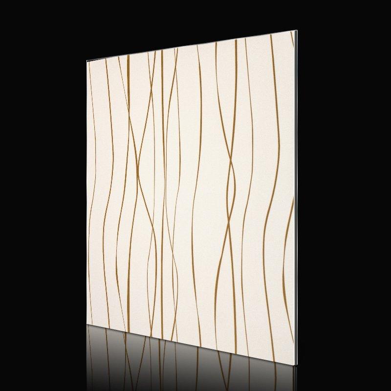 Sifon SF714G01-AB FashionWavesGoldLines acp sheet cladding Abstract ACP image1