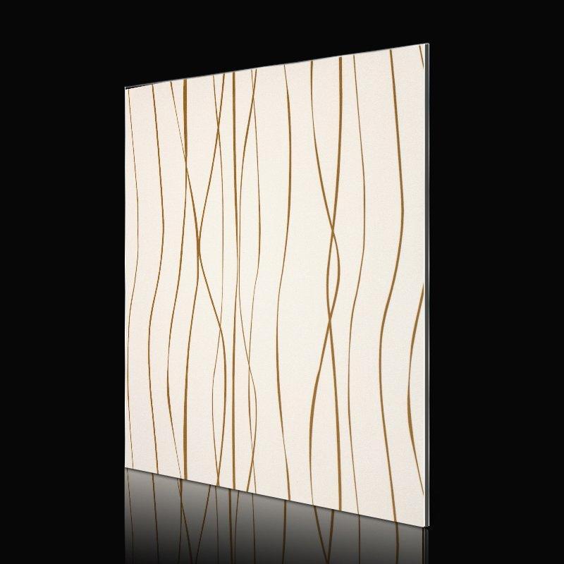 SF714G01-AB FashionWavesGoldLines acp sheet cladding