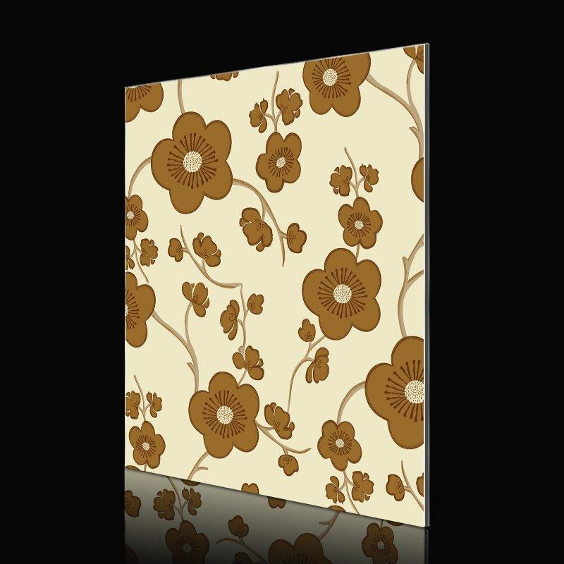 SAA142S23-FG Brown Blossom Tree Pattern acp panel colours