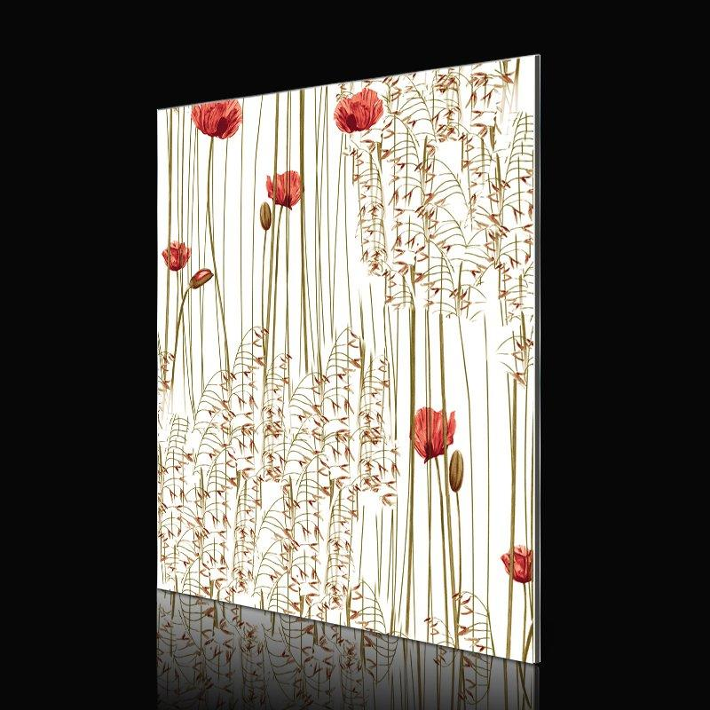 SAA152D01-FG Red Poppy Flowers acp sheet colours