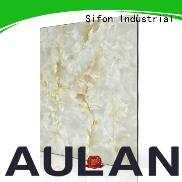 AULAND fashion acp diamond plate wall panel higher efficiency for school