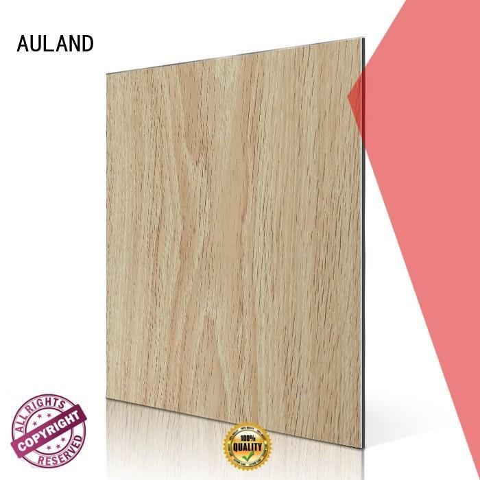 matt maple dark aluminium composite panel rate AULAND manufacture