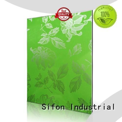 AULAND pattern aluminium composite sheet price on sale for construction site