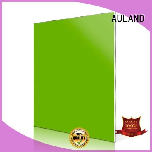 purple red AULAND Brand aluminium composite panel fixing factory