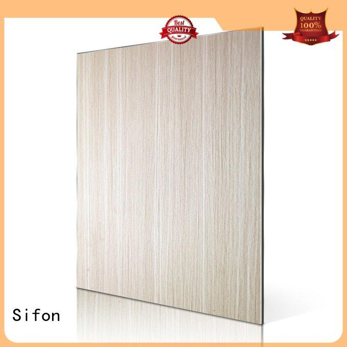 Sifon aluminum composite panel fire rating wall patten skin acm