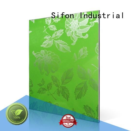 Hot poppy aluminium composite sheet price green panel AULAND Brand