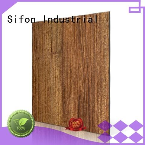 texture animal aluminum composite panel fire rating acp burl AULAND Brand