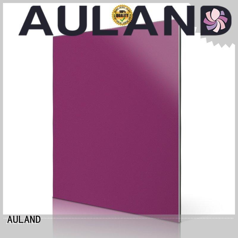 sheet composite acm aluminum composite panel price green AULAND company