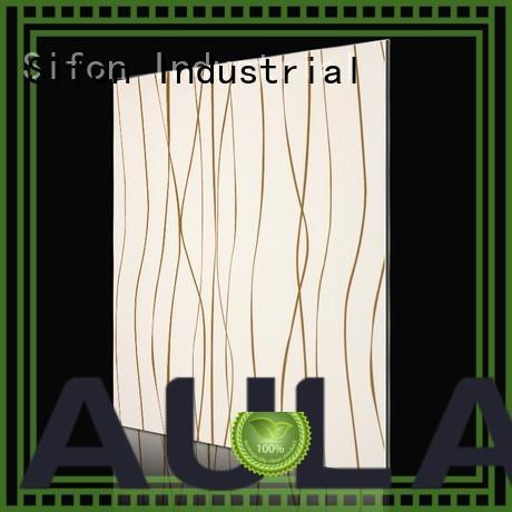 Custom fashion waves gold lines paper acm composite panel AULAND labyrinth