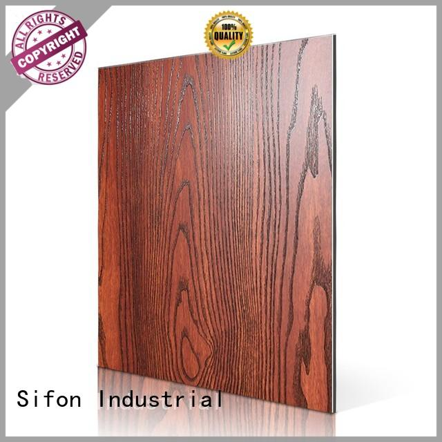 SAA30603-PVC Black Wood Skin acp wall panels