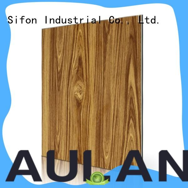 AULAND aluminum aluminium composite sheet price 3D Wall Stickers Marble Brick Waterproof for buildings