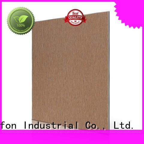 AL53-B Brown Brushed acp facade panel