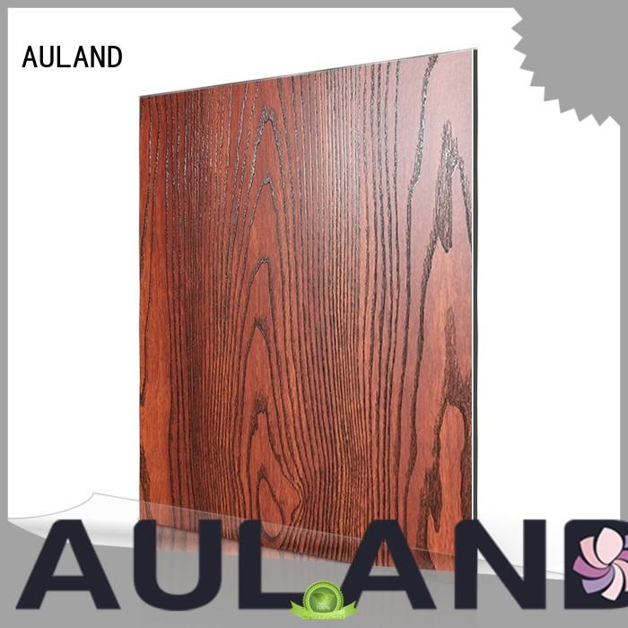 AULAND black aluminum and plastic composite panel 3D Wall Stickers Marble Brick Waterproof for construction site