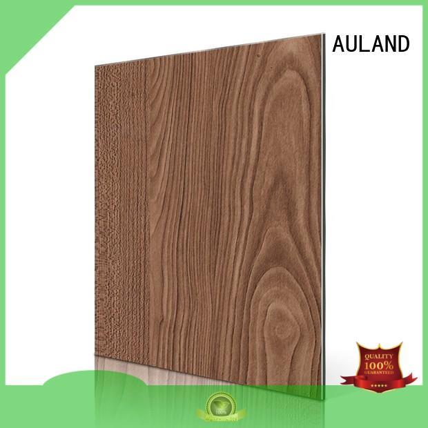 beech maple aluminium composite panel rate matt dark AULAND Brand