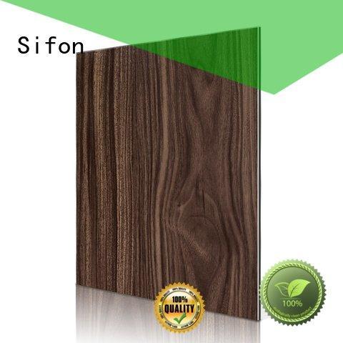 Sifon yellow acp wall panels black panel