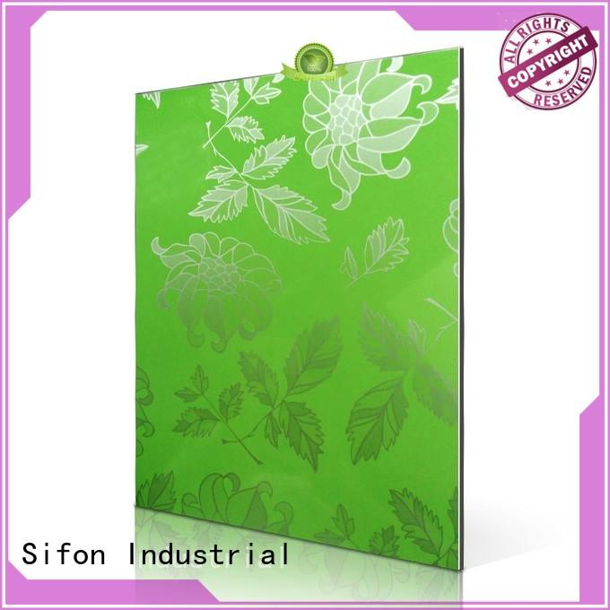 board brown red AULAND Brand aluminium composite sheet price supplier