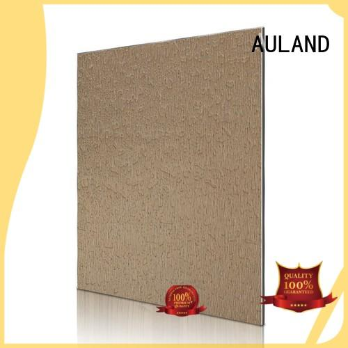 Hot design acp aluminium composite panel brown brushed light granular shooting AULAND Brand