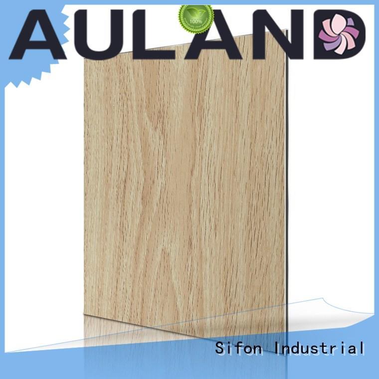 Wholesale wood aluminium composite panel rate AULAND Brand