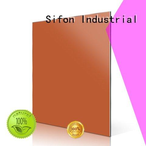 Hot aluminium composite panel fixing price apricot sheet Sifon Brand