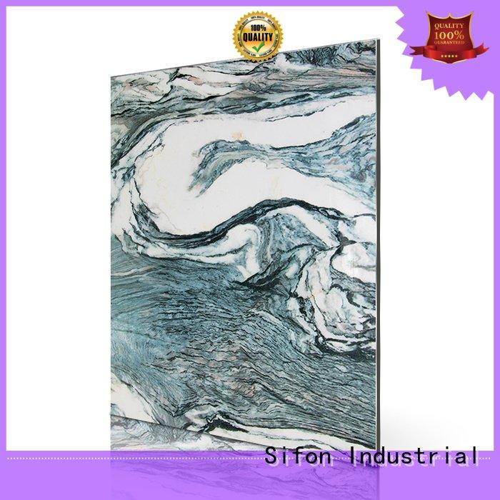white cladding acp aluminium sheet Sifon Brand