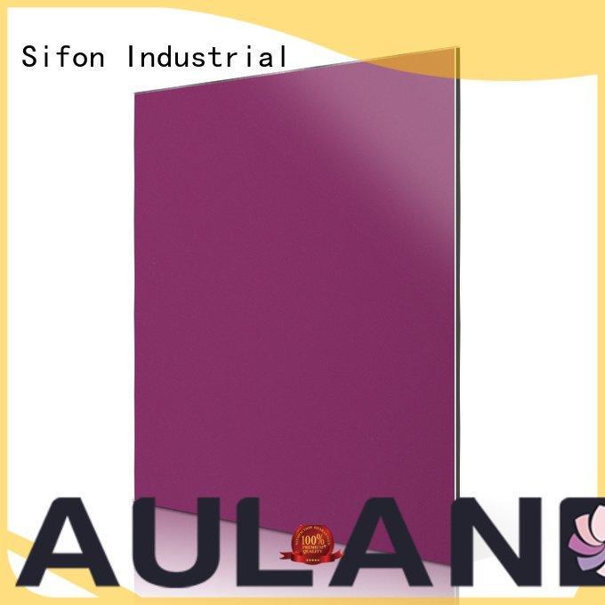 Sifon acm aluminum composite panel panels acm purple pink