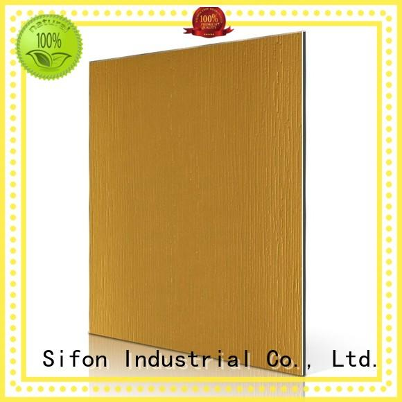 AULAND brown brushed light granular acm panel manufacturers professional for daily life