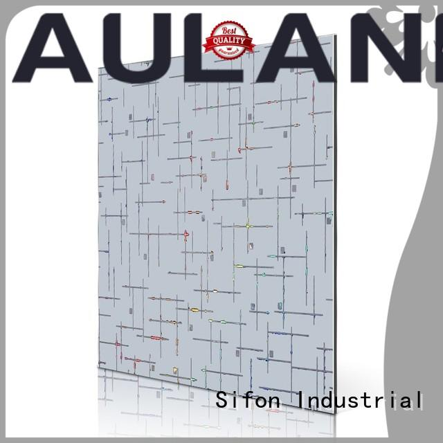 AULAND red luminum composite panel manufacturers buy from China for construction site
