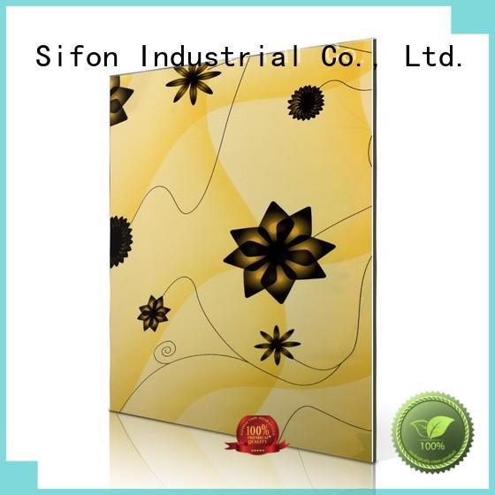 red flowers mimose aluminium composite panel indonesia AULAND Brand